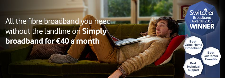 Get Simply Broadband for €40