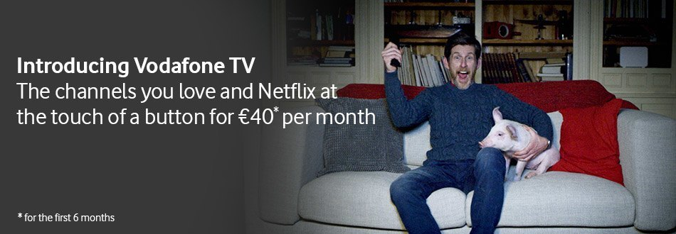 Get Vodafone TV for €40 for the first 6 months