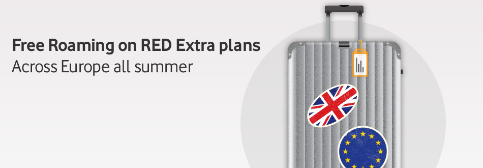 Free roaming on RED Extra this summer across Europe