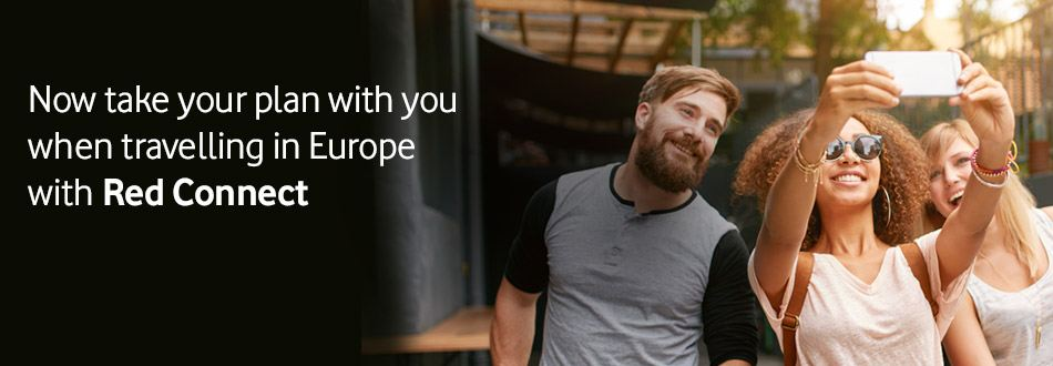 Take your plan with you when travelling in Europe with RED Connect